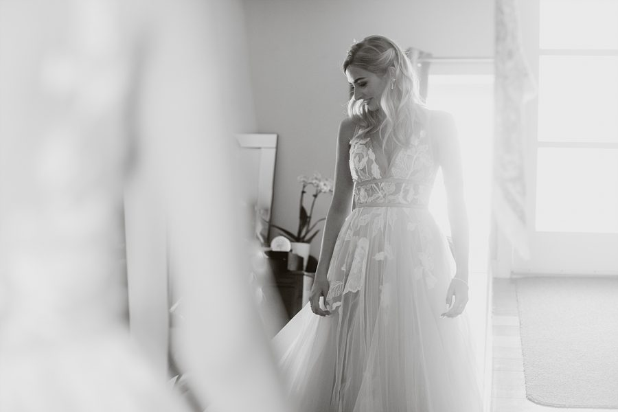Bride before ceremony