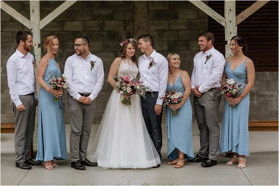Powder blue wedding party