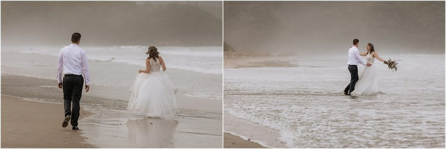 Wedding photography time on Waihi Beach