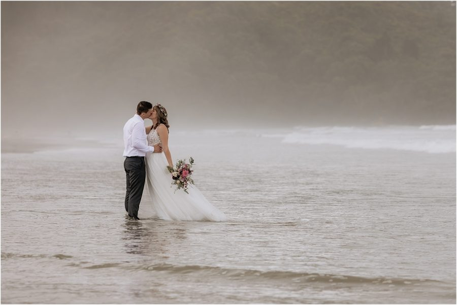 Beautiful wedding photography in the water