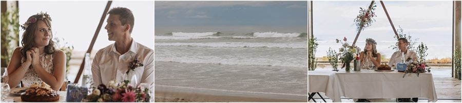 Waihi Beach waves and wedding reception