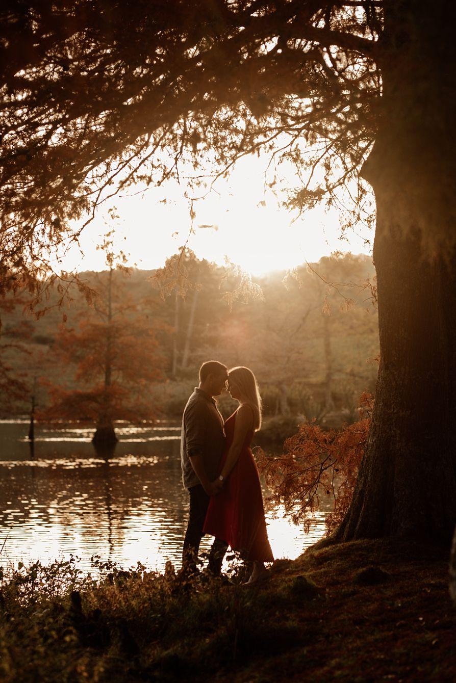 Couple in autumn light