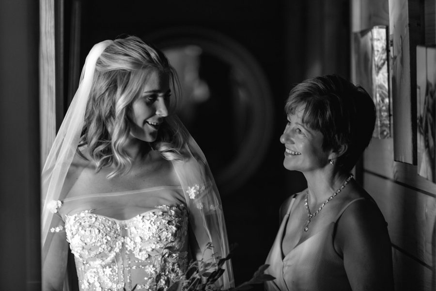 Bride with mother of the bride