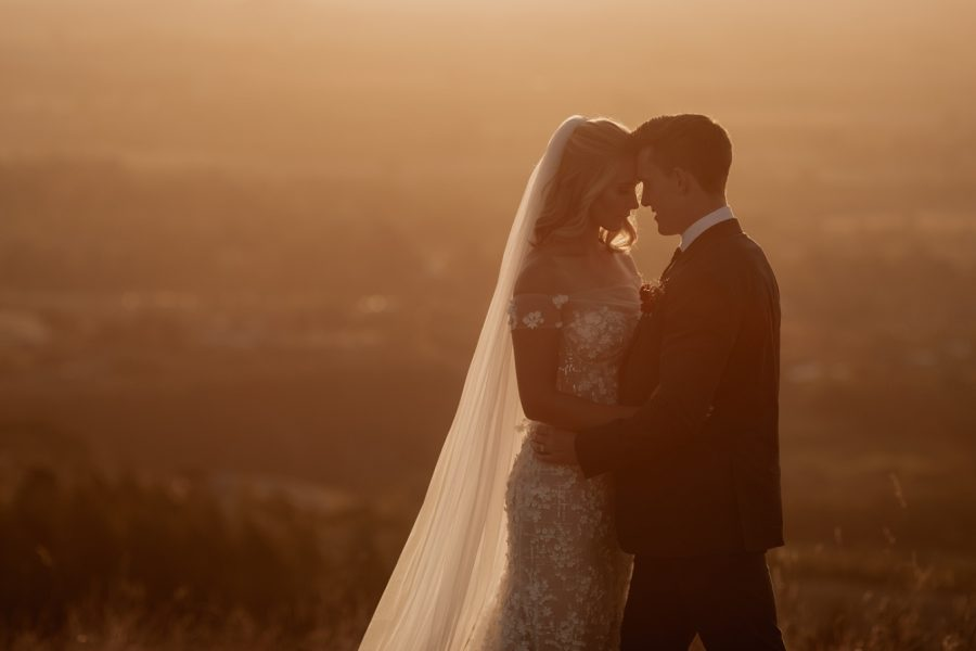 Special moment between bride and groom