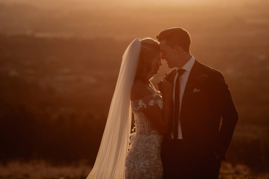 Elopement picture golden hour special moment