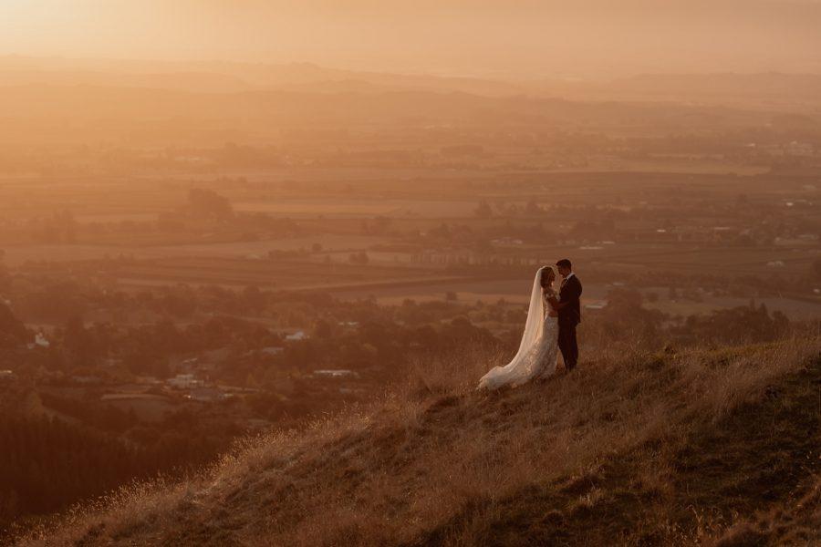 Views over Hawkes Bay wedding photos