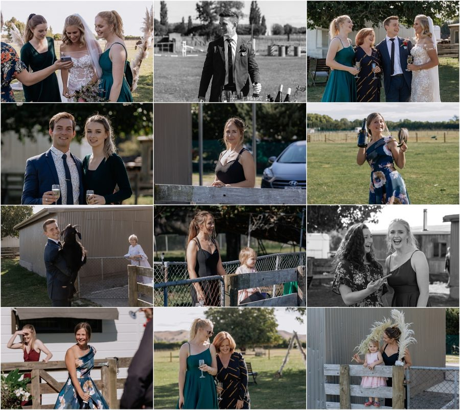 Lots of natural happy wedding guest photos