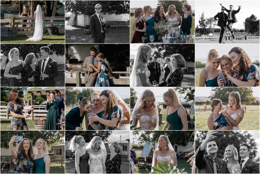 Natural candid moments of wedding guests