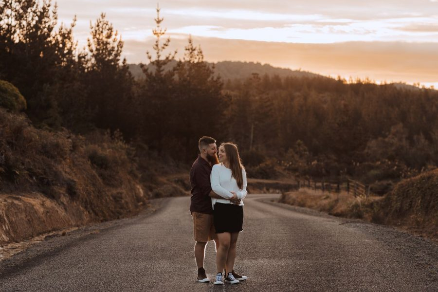 New Zealand engagement shoot in the country
