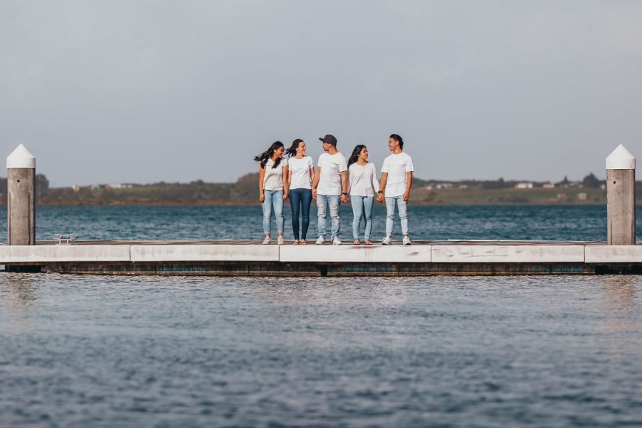 Tauranga harbour family photo