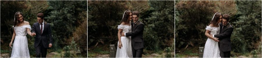 Natural fun moments with elopement photography in New Zealand