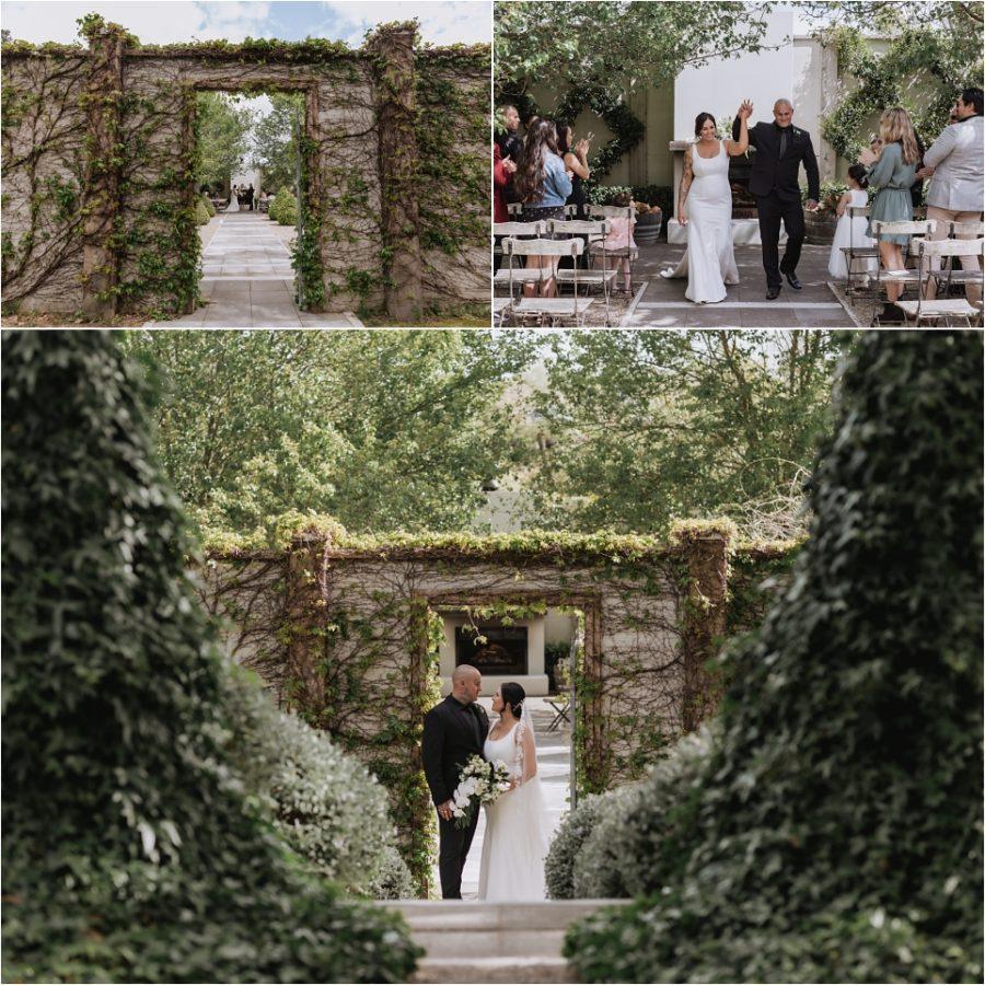 Tauranaga Ataahua Garden wedding venue bride and groom
