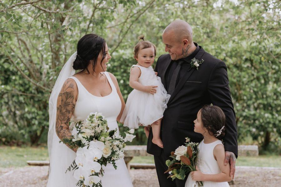Family photos at Ataahua