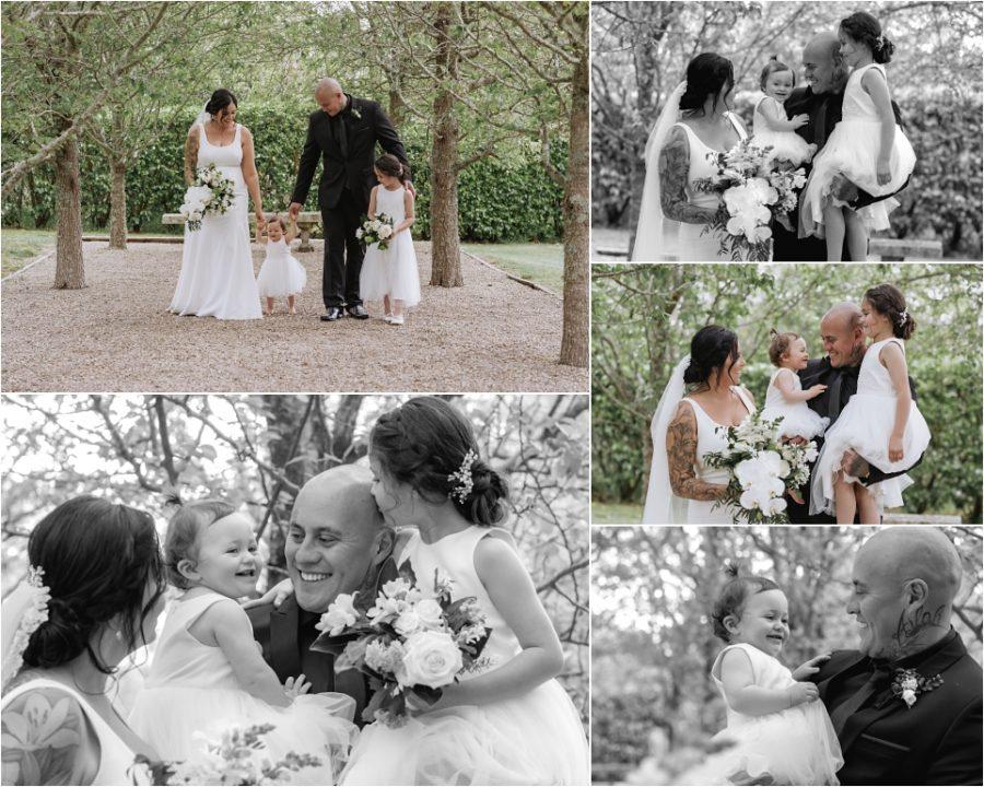 Happy natural family wedding photos in Tauranga