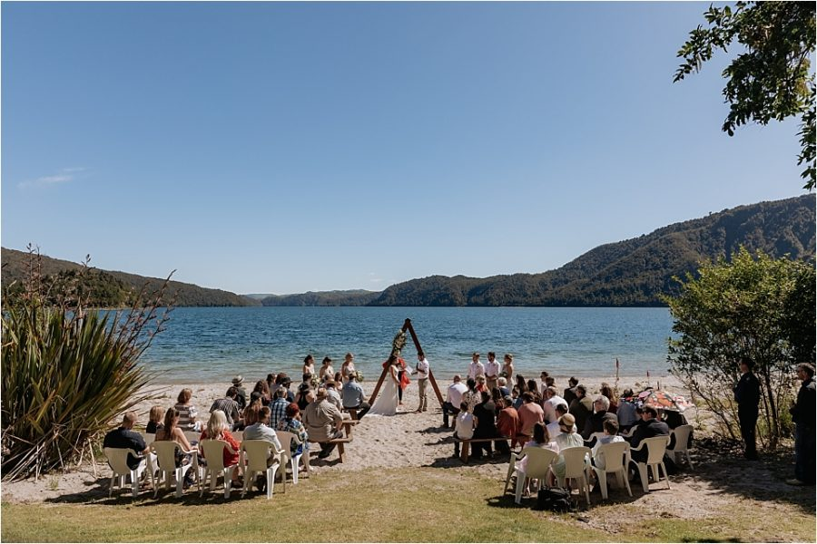 Wedding ceremony at lakes Lodge with Pure Images