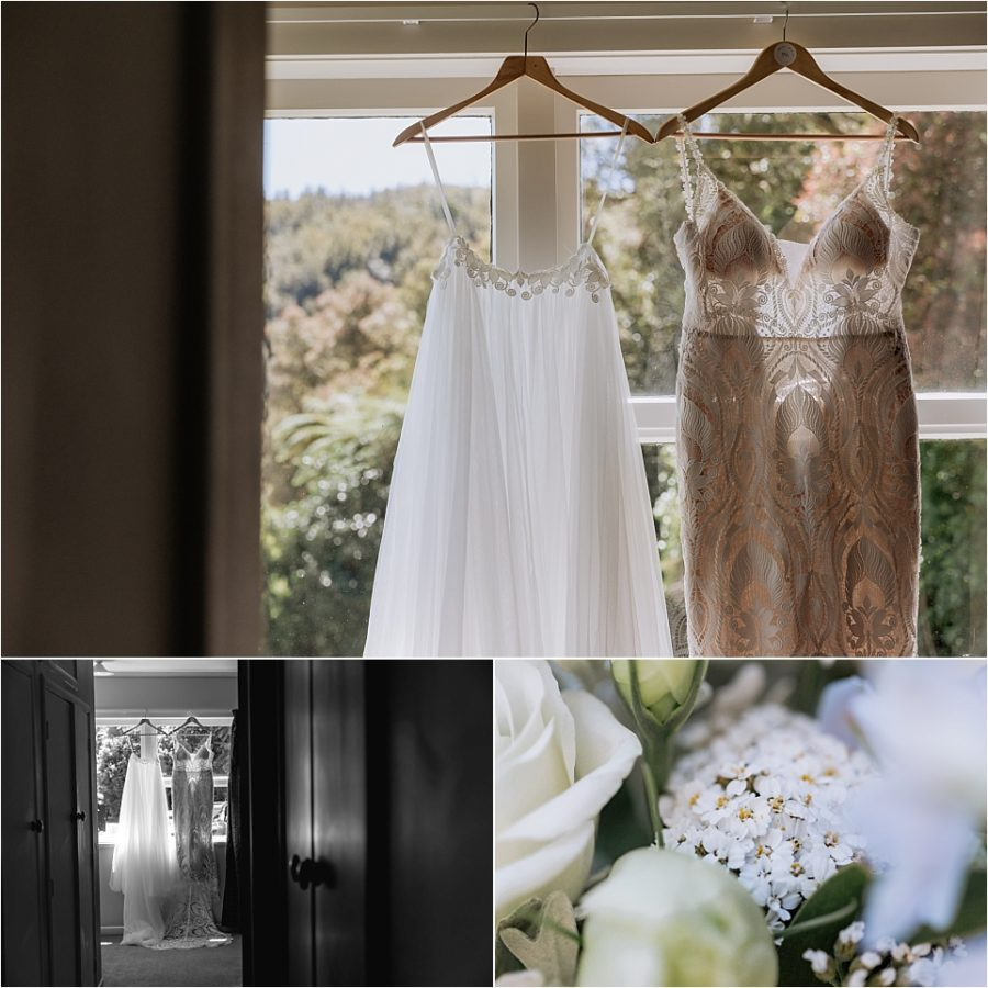 Jessica bridal wedding dress and flowers