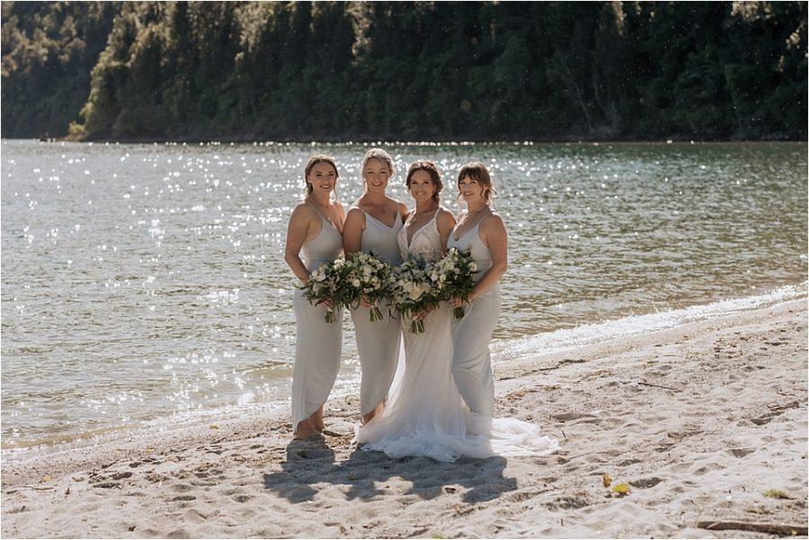 Pistachio green bridesmaids dresses