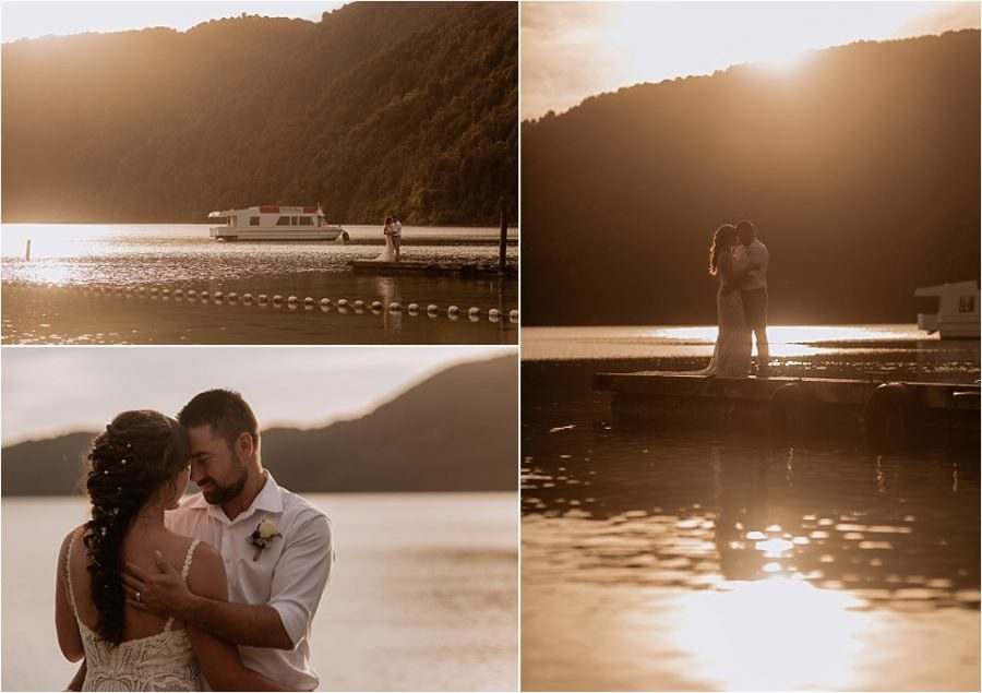 Wedding photos with Pure Images Photography at golden hour