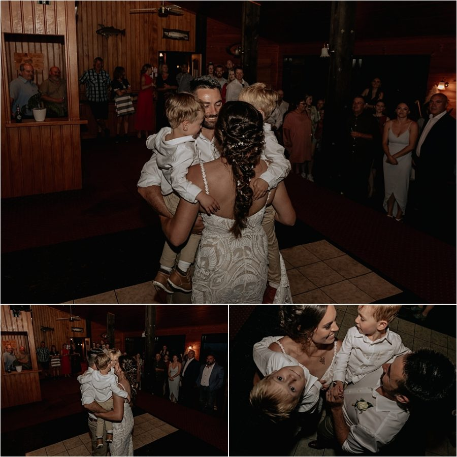 First dance love with little family