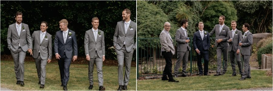 Relaxed time with groomsmen