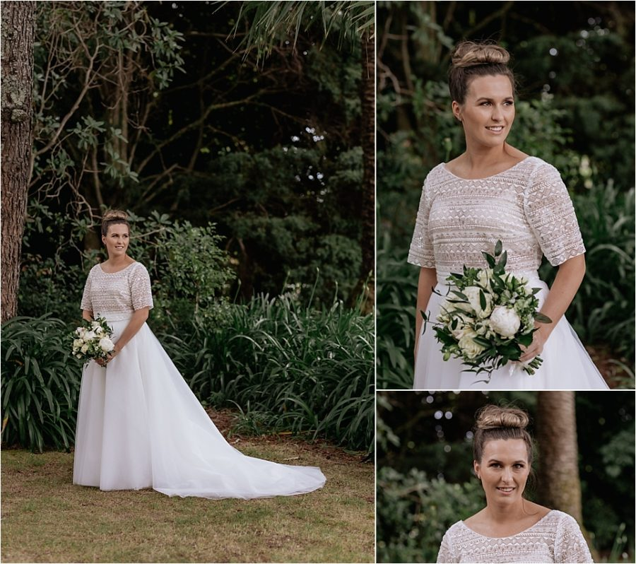 Bride lace top and skirt