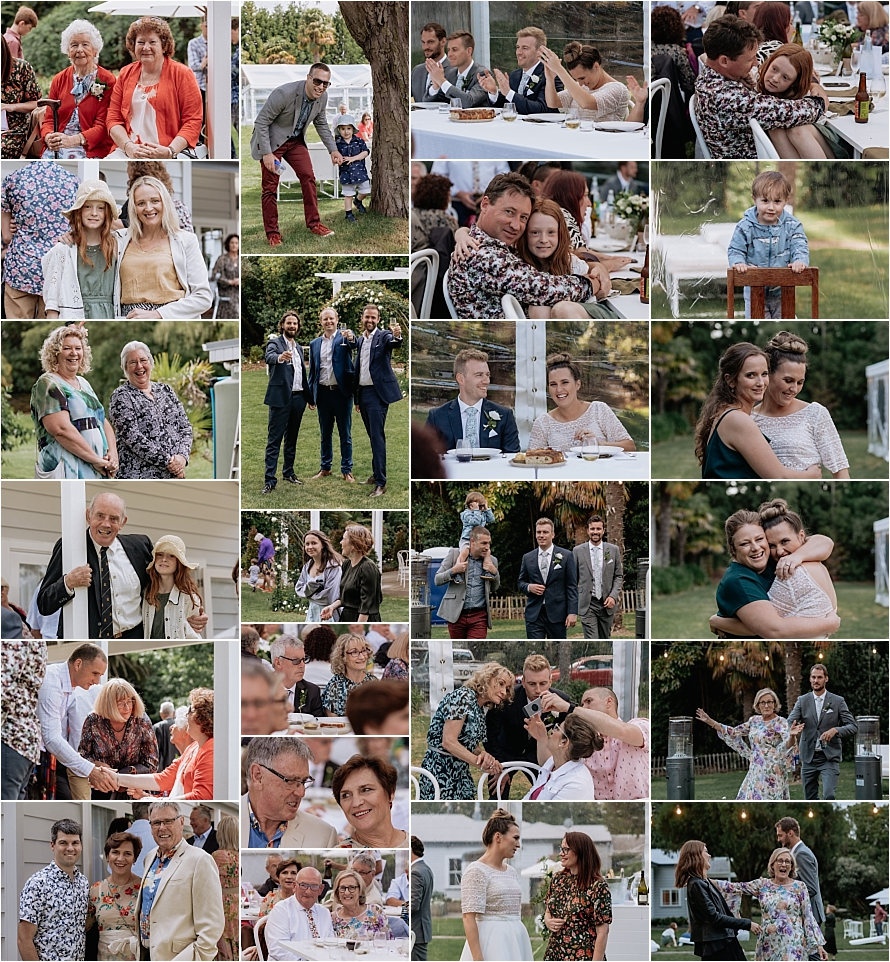 Guests candids and natural photos during mingling time after wedding ceremony
