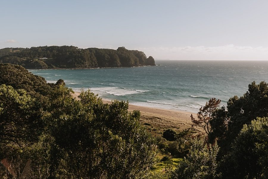 Scene of Hot Water beach Coromandel