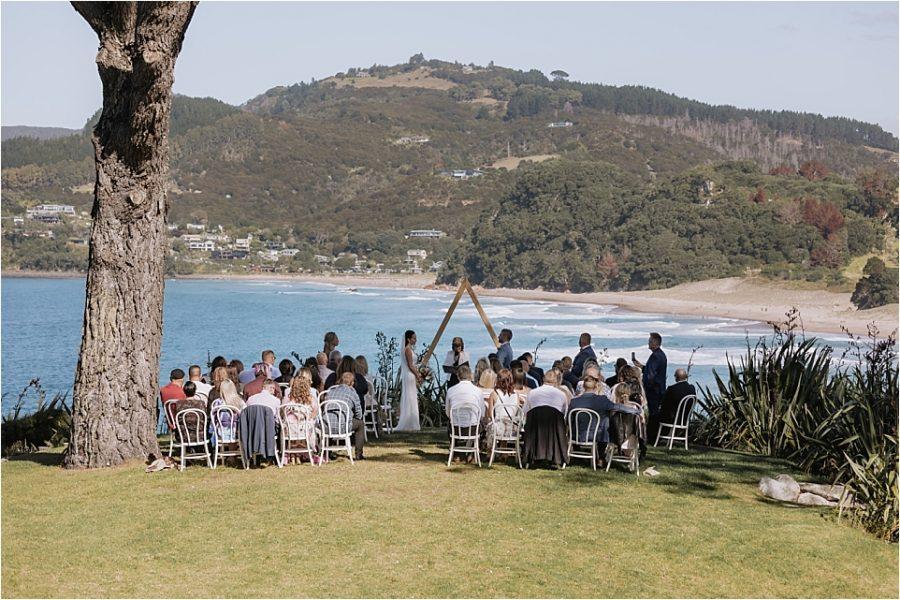 Orua Beach house ceremony scene