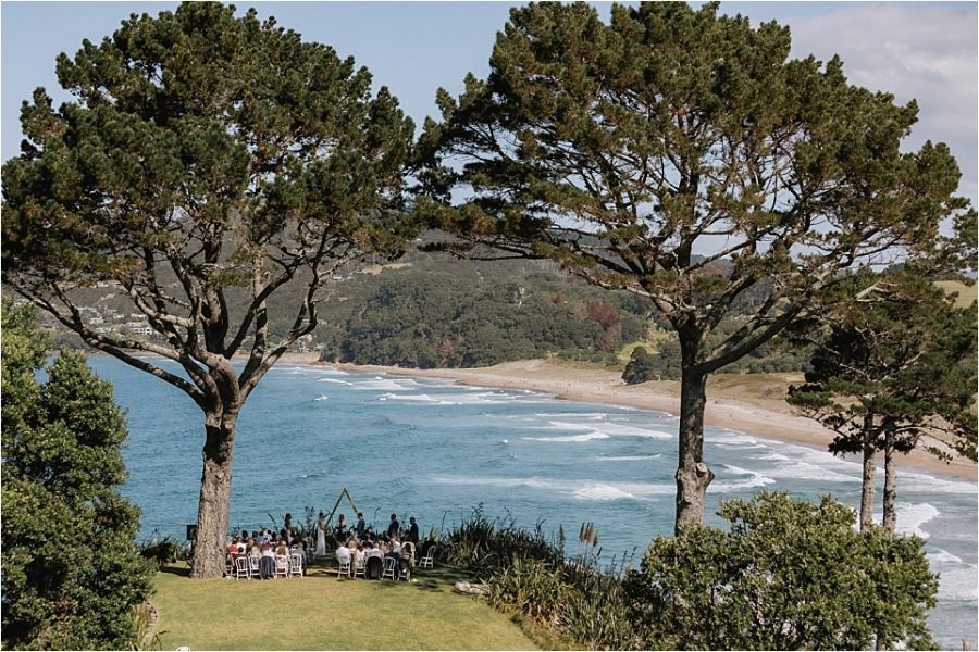 Scenes overlooking Hot water beach at Orua Beach house Coromandel New Zealand