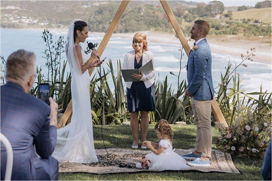 Vows at Orua beach house