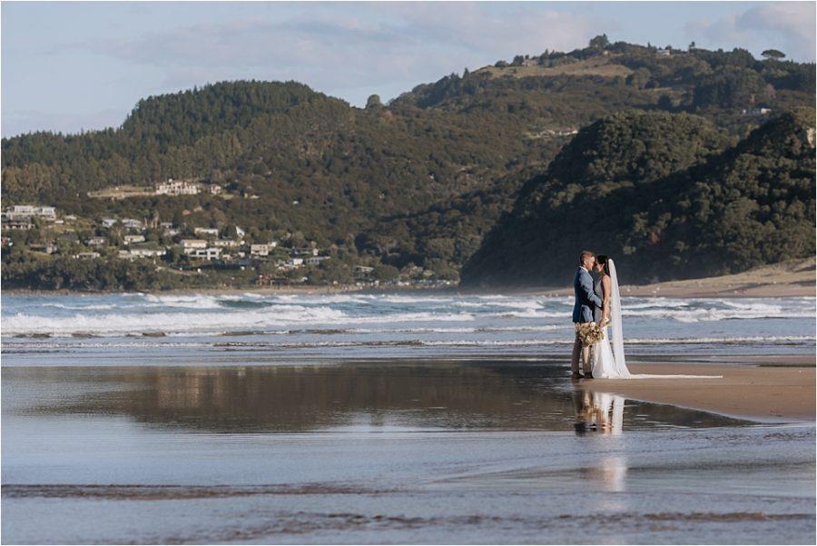 Hot water beach wedding photos