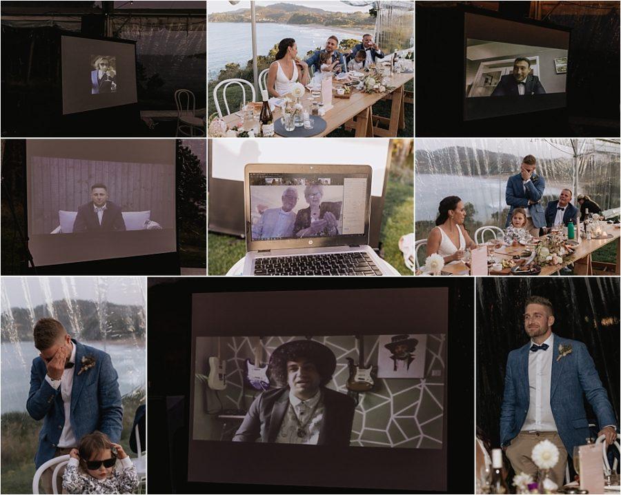 Zoom wedding reception