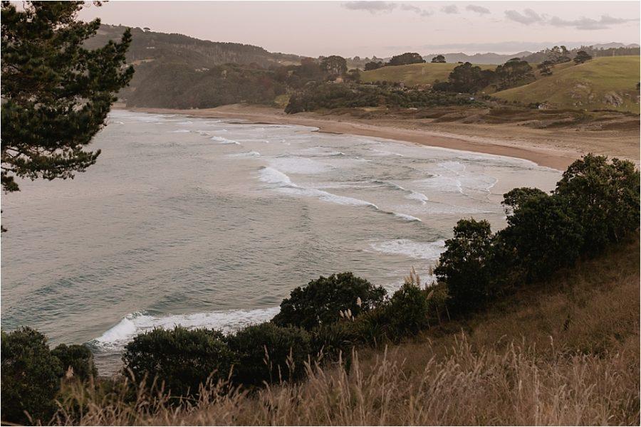 Views from Orua beach house over looking hot water beach