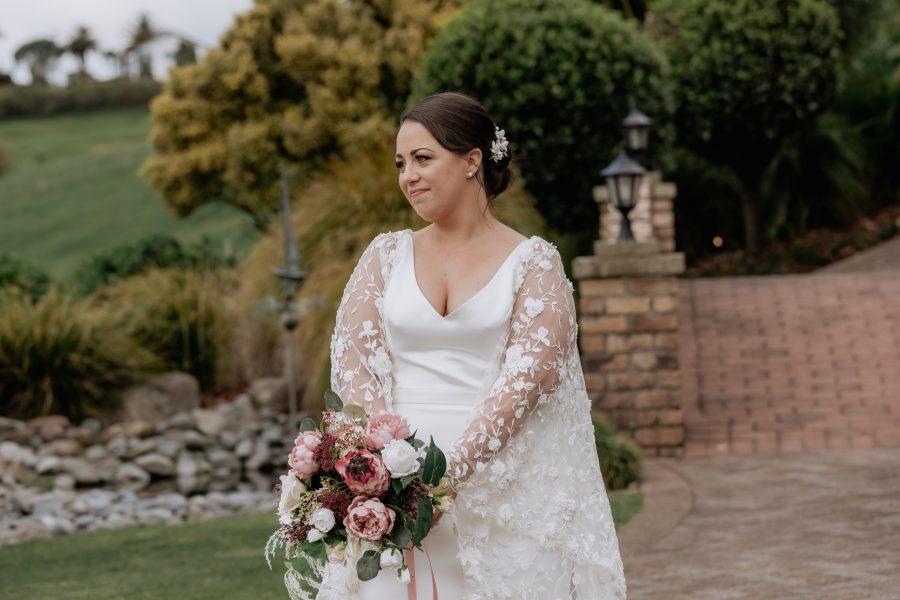 Bride walking the aisle emotional moment