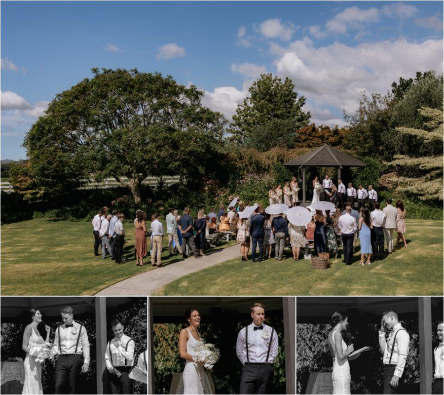 Tauranga garden wedding, vows