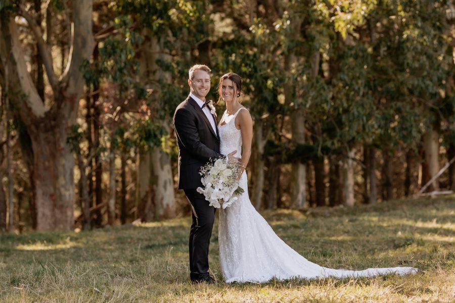 Bridal portrait in paddock