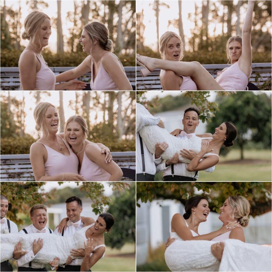 Wedding guests fun photos