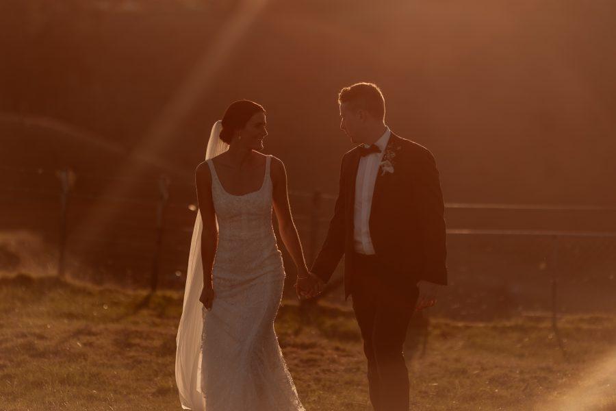Tauranga country wedding at golden hour