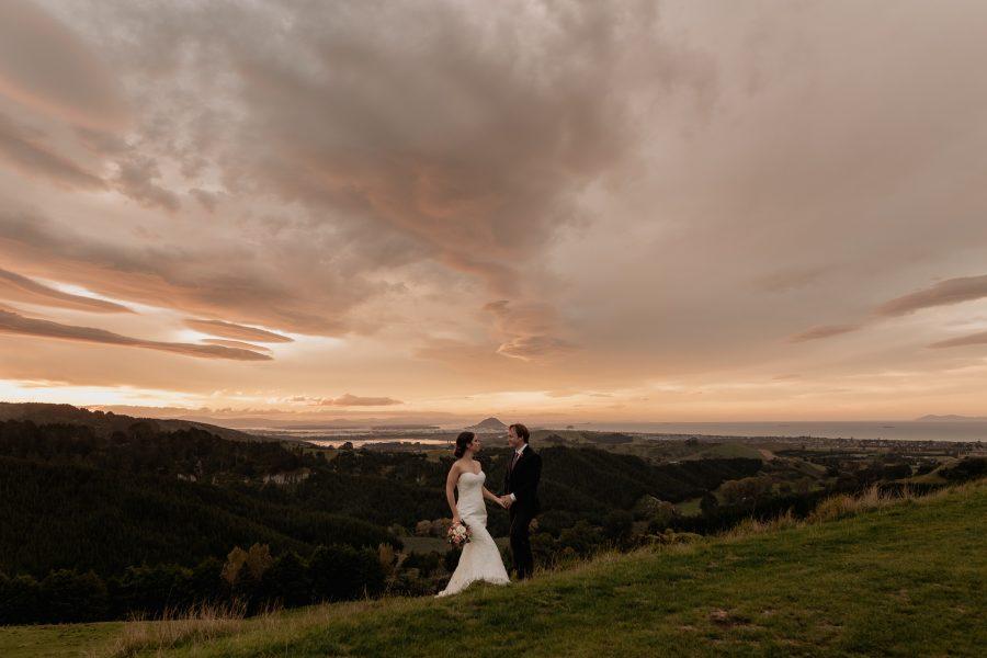 Mount Maunganui scenic wedding photo