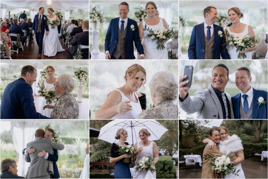 candid happy moments bracu estate wet weather wedding at bracu estate