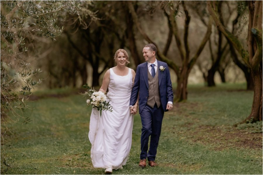 in the olive grove at Bracu wedding