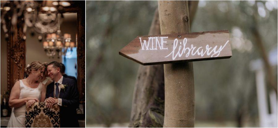 Wine library wedding photos Bracu estate