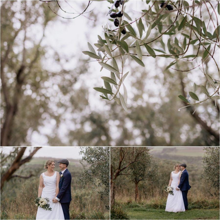 Wedding Photos in olive groves at Bracu Estate